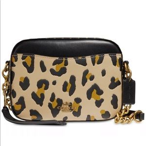 Coach 32727 Leopard & Black Smooth Leather